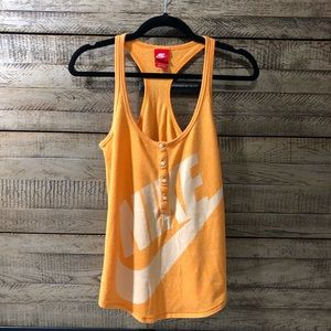 Nike Vintage Gym tank XS women Orange